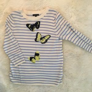 J.Crew Tippi Sweater in Striped Monarch